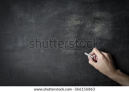 Writing with chalk - stock photo