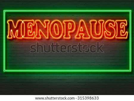 writing   words ' MENOPAUSE '  on bricks  background made in 2d software - stock photo