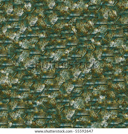 Wrought bronze design. (Seamless pattern for continuous replicate). - stock photo