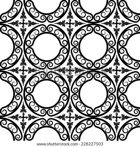 wrought iron pattern - stock photo