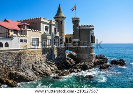 Wulff Castle in Vina del Mar, Chile. - stock photo