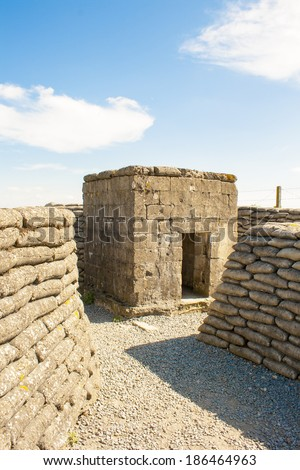 WW1 Bunker in the trench of death Belgium world war. - stock photo