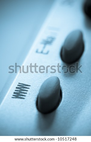 www button blue tint concept image - stock photo