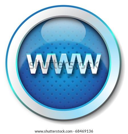 www icon - stock photo