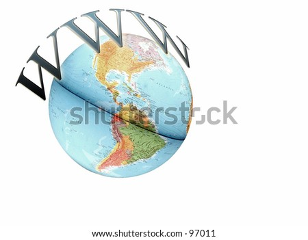 www on top of the world - stock photo