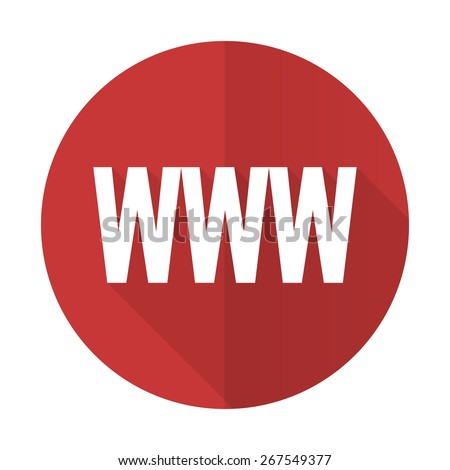 www red flat icon   - stock photo