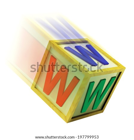 WWW Wooden Block Showing Internet Online And Webpage - stock photo