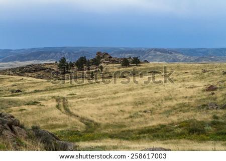 Wyoming landscape - stock photo