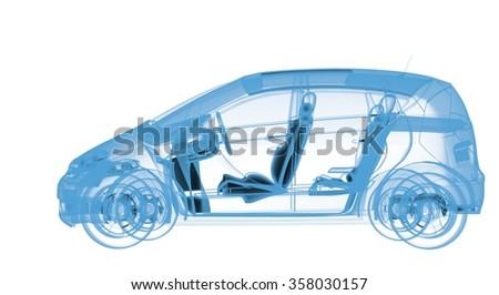 X-Ray Car - stock photo