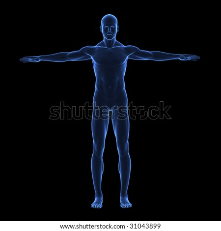 X ray human body - stock photo