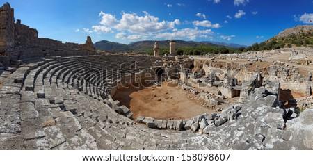 Xanthos Ruins, Kinik village, between Fethiye and Kas, Turkey, Europe - stock photo