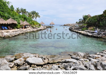 Xcaret near Cozumel in Mexico - stock photo