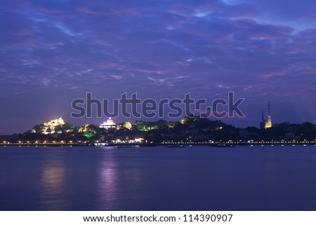 Xiamen Gulangyu Island at sunset in China - stock photo