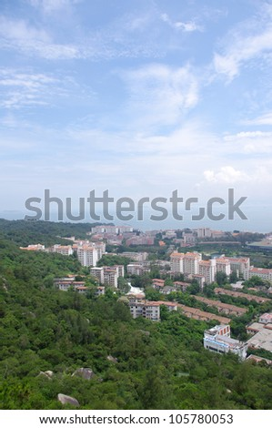 Xiamen panoramic - stock photo
