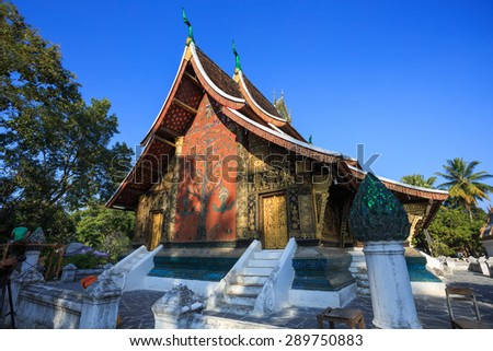 Xiang thong temple in Luang Prabang,Laos - stock photo