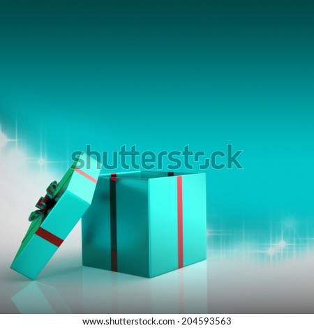 Xmas Giftbox Representing New Year And Gifts - stock photo