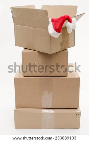 xmas mail - stock photo