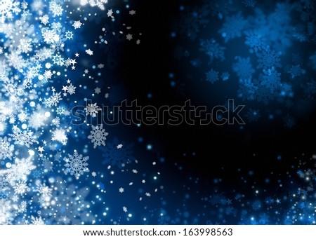 Xmas snow abstract background illustration - stock photo