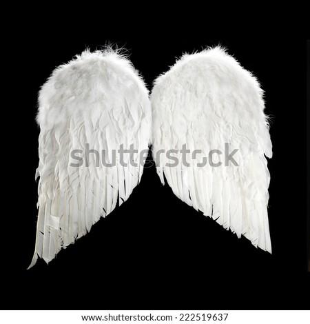 xmas wings  - stock photo