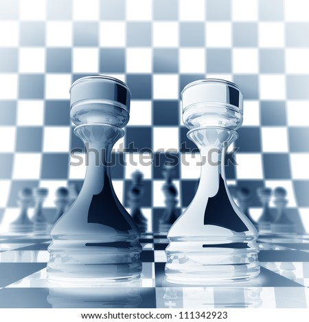Xrey chess rook background  3d illustration. high resolution - stock photo