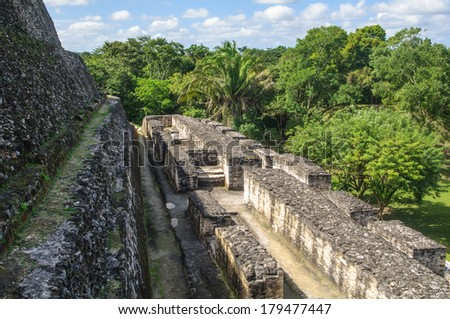 Xunantunich Mayan Ruin in Belize - stock photo