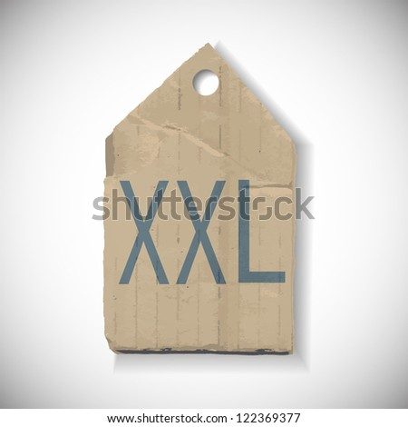 XXL Size label isolated on white - stock photo