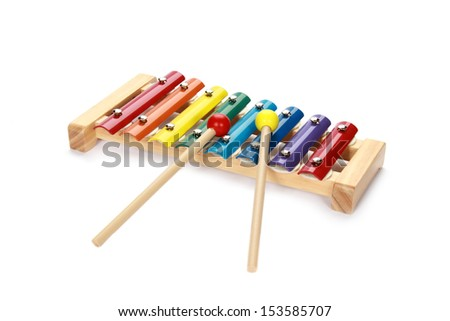 xylophone isolated on white  - stock photo