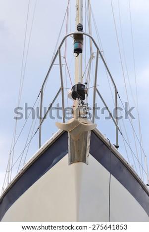 yacht against the sky - stock photo