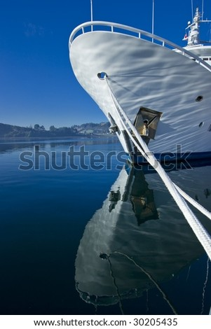 Yacht Bow - stock photo
