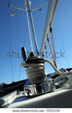 Yacht detail - stock photo