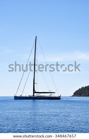 Yacht in the sea,Thailand - stock photo