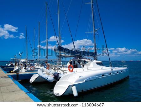 Yacht marine in Cienfuegos, Cuba - stock photo