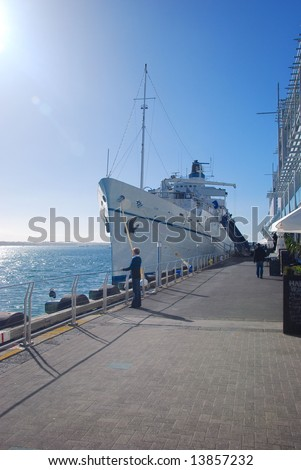 Yacht parking at Prince wharf, Auckland, New Zealand - stock photo