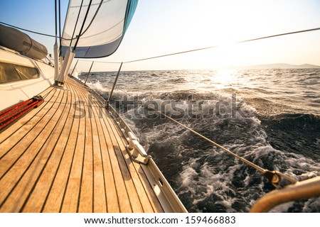 Yacht, sailing regatta. Luxury yachts. - stock photo