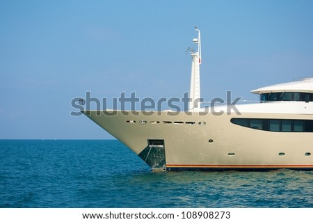 yacht-sedge instruments-design ship-luxury yacht - stock photo