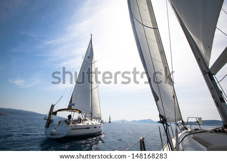 Yachting. Sailing.  - stock photo