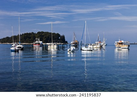 Yachts and boats - stock photo