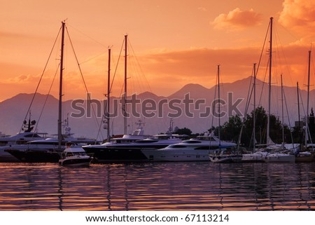 Yachts and Boats at Port - stock photo