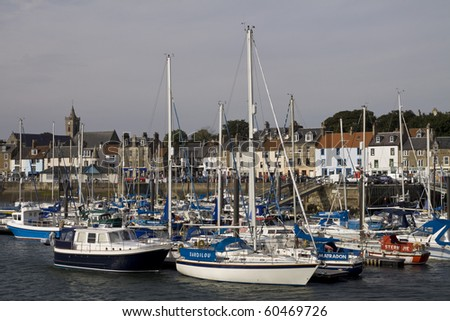 Yachts at Anstruther Harbour, Scotland - stock photo