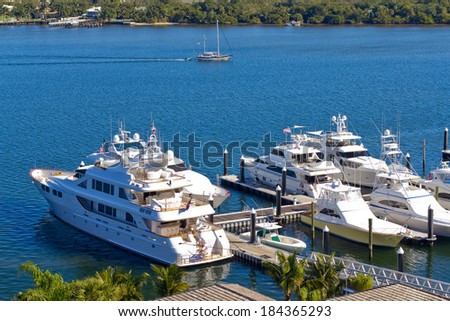 Yachts at West Palm Beach, Florida - stock photo