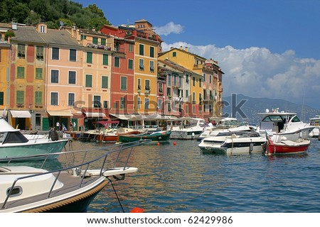 Yachts in the Italian Mediterranean coast, Cinque Terre - stock photo
