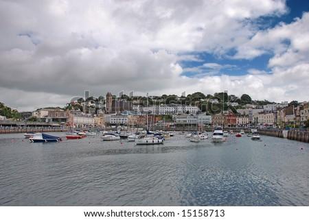 Yachts in Torquay, UK - stock photo