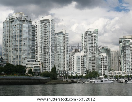 Yaletown in Vancouver - stock photo