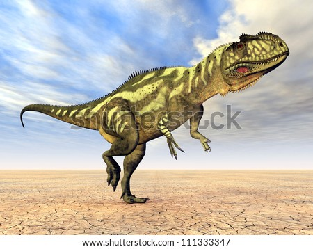 Yangchuanosaurus Computer generated 3D illustration - stock photo