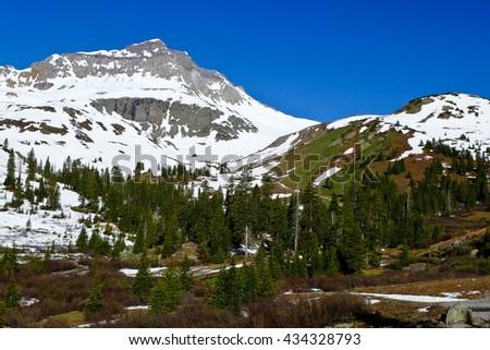 Yankee Boy Basin Near Ouray.  Rocky Mountains, Colorado - stock photo