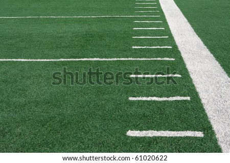 Yard Lines of a Football Field - stock photo