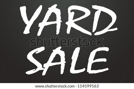 yard sale title - stock photo