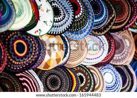 Yarmulke - traditional Jewish headwear, Israel.  - stock photo