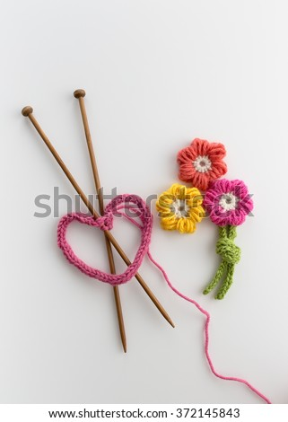 Yarn Crafts  - stock photo