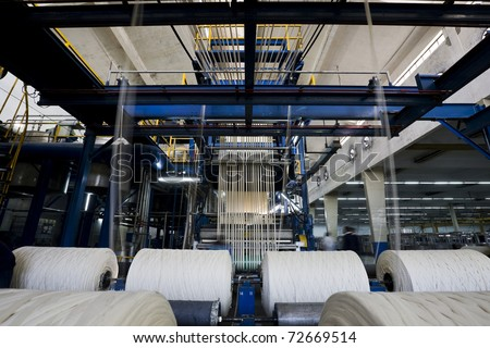 yarn dyeing machine at a textile mill. - stock photo